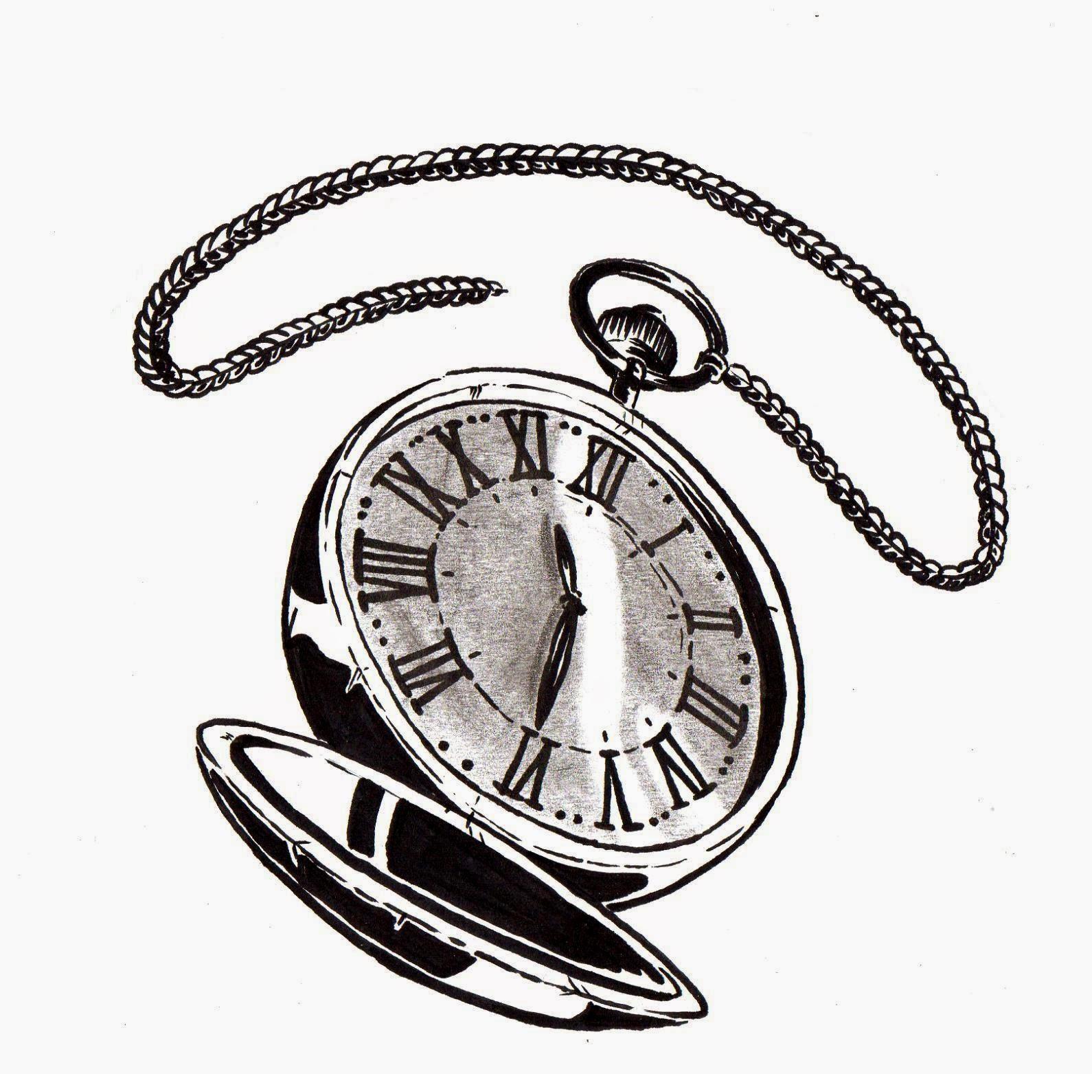 Taschenuhr skizze  SKIZZEN,ZEICHNUNGEN UND VERSUCHE: TATTOO: Taschenuhr/pocket watch ...