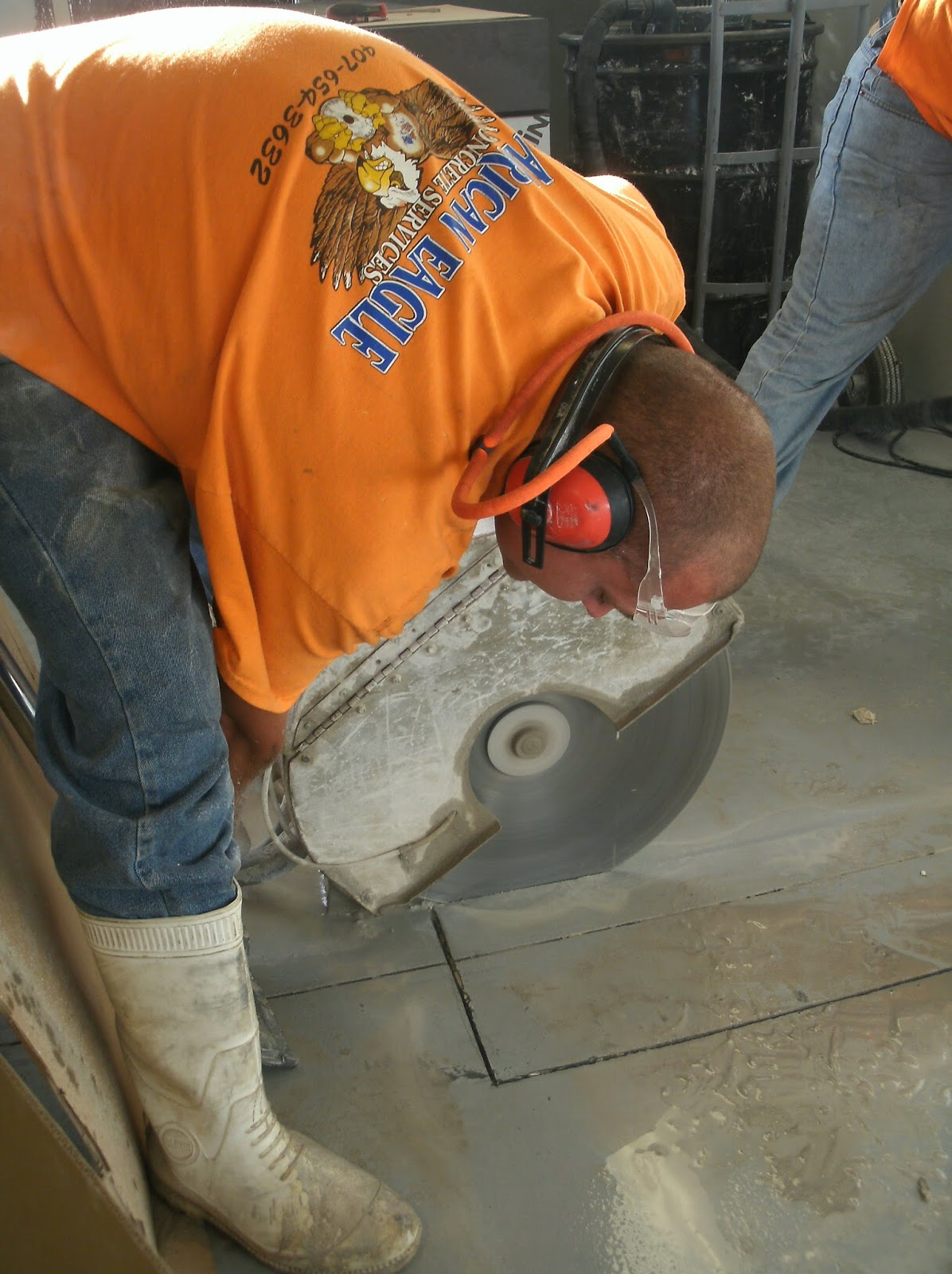 Hydraulic Concrete Slab Sawing in Orlando, FL at the Buena Vista Outlets