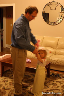 girl dancing with Dady