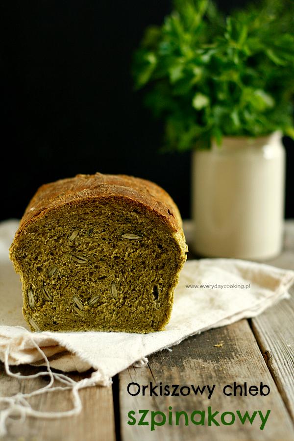Orkiszowy chleb szpinakowy
