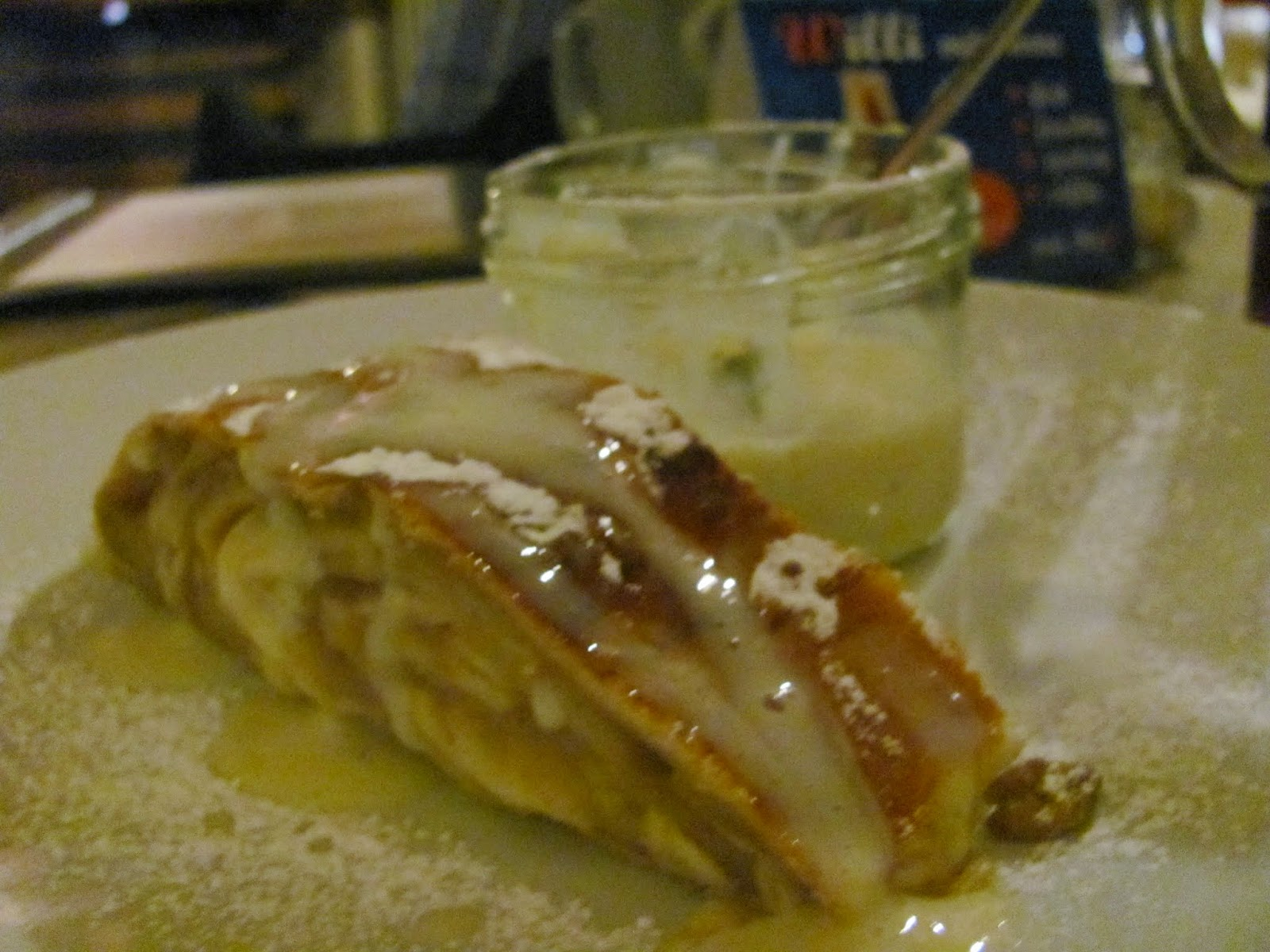 Apple Strudel at Augustiner Beer Hall Munich, Germany