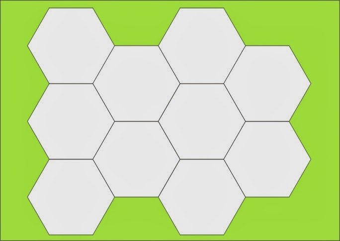 patchwork hexagons patterns