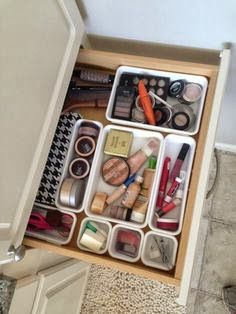 Makeup Drawer Organization