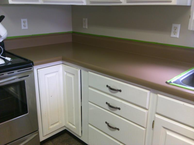 Paint Your Countertop : Newlywed Hares: How to Paint Your Countertop