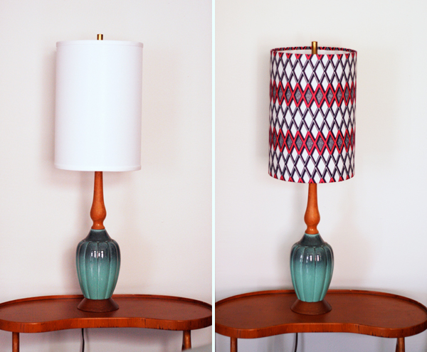 How To Cover Lampshades With Fabric How About Orange