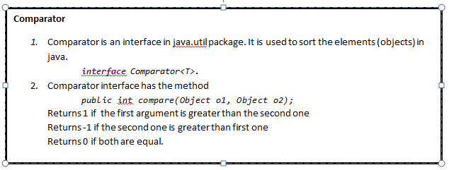 Java To Everyone Comparable And Comparator