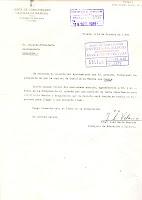 Carta de la Consejería de Educación. Fecha 19/10/1983