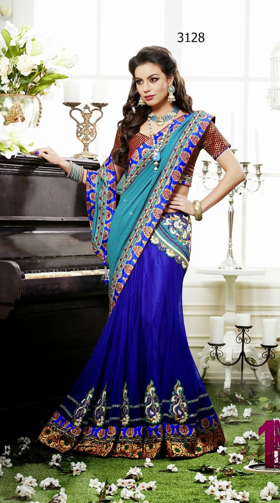 lehenga style saree online