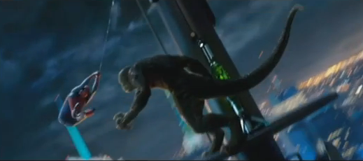 The Amazing Spider-Man 2012 marvel film Spider-Man vs The Lizard at Oscorp Tower in 3D