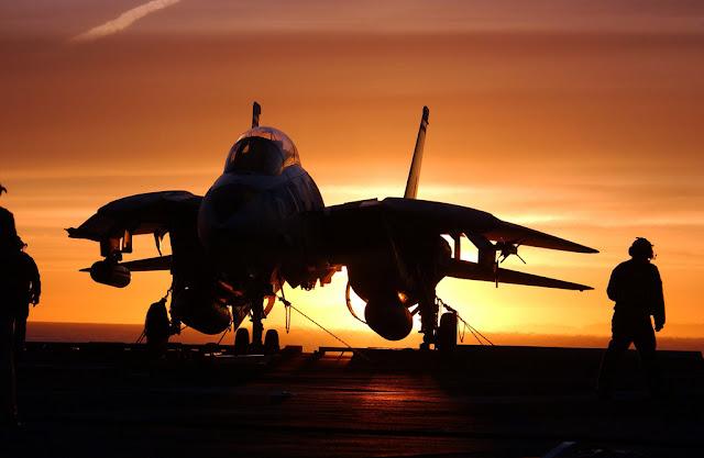 F-14 tomcat sunset