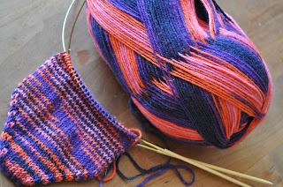 Strømpegarn Østkysten strikkes til nye vanter