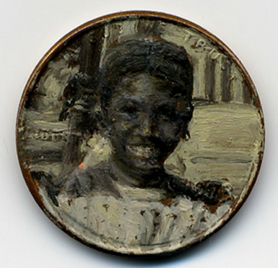 لوحات زيتية دقيقة ومدهشة على العملات المعدنية الصغيرة  Penny-paintings4-550x530