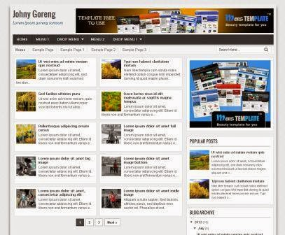 Simple SEO Friendly & Responsive Blogger Template Johny Goreng