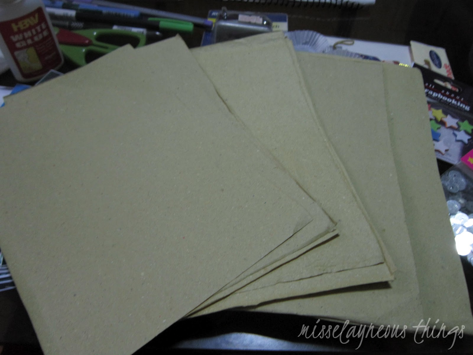 After that cut the small squares and you ve got 16 scrapbook pages instantly imagine that 16 pages with just 8 pesos that s really cheap