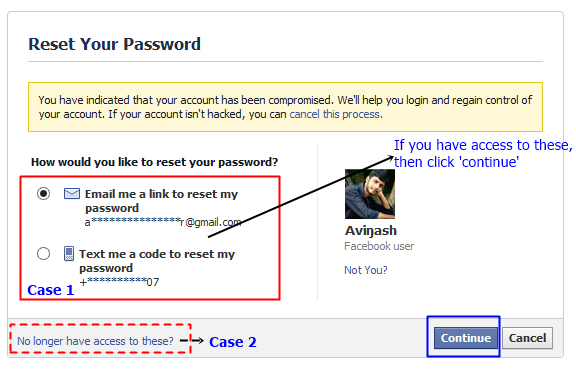 How to Recover a Hacked Facebook Account - reset your password