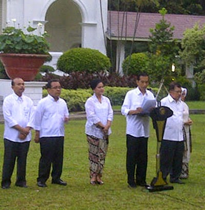Susunan Kabinet Kerja Jokowi JK