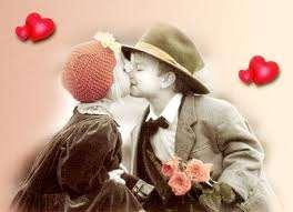hình ảnh về tình yêu đẹp lãng mạn dễ thương, con nít hôn nhau