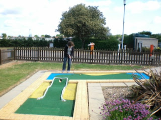 Miniature Golf at the North Shore Holiday Centre, Caravan Park in Skegness