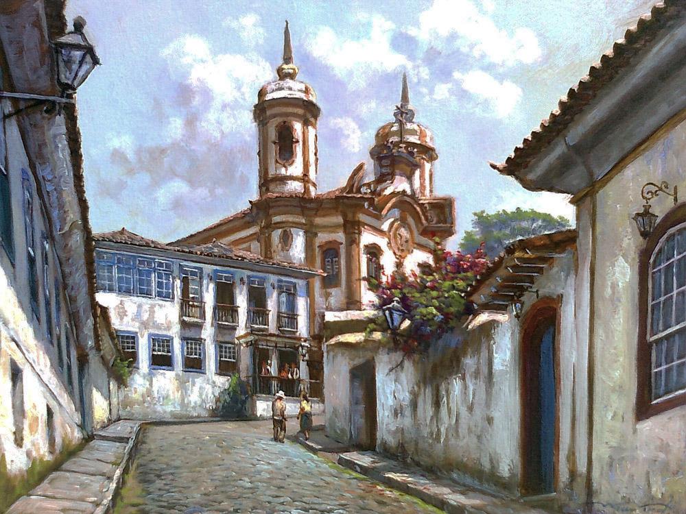 WILSON VICENTE  Lateral da Igreja São Francisco, Ouro Preto