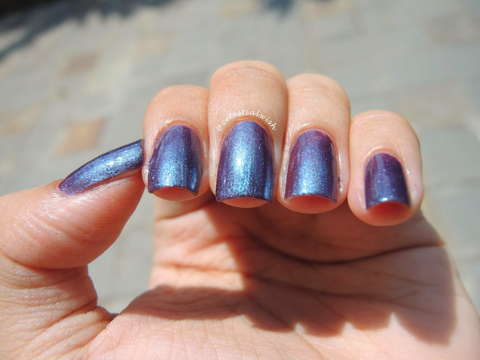 Enchantress nails lined in one straight row under the sun!