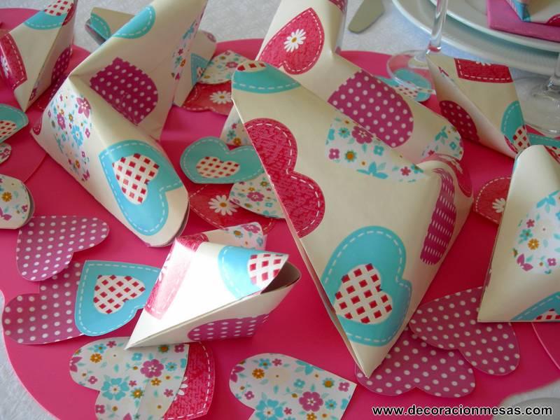 Origami Decoracion De Mesa ~ Decoracion de mesas Mesa 60 cumplea?os con corazones
