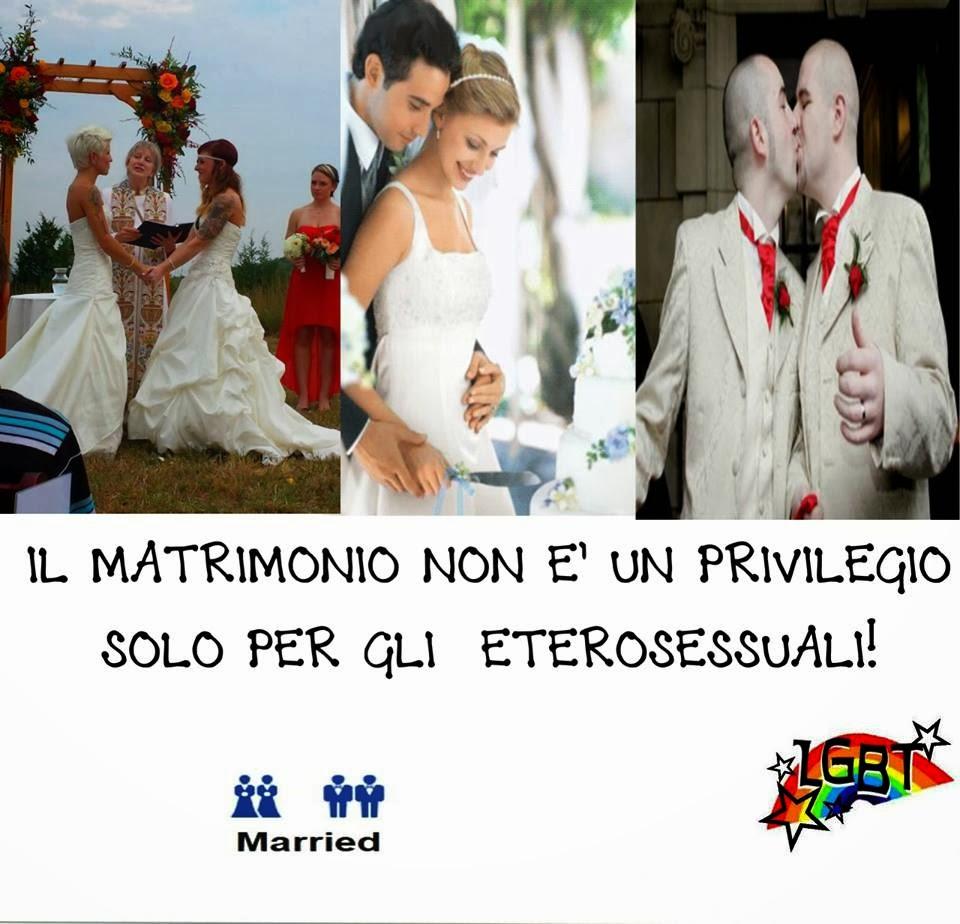 il matrimonio non è un privilegio solo per gli eterosessuali