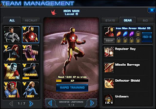 Marvel Avengers Alliance Team Management Iron Man