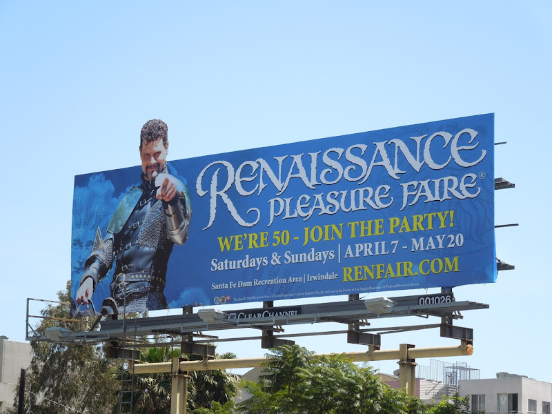 Renaissance Pleasure Faire billboard