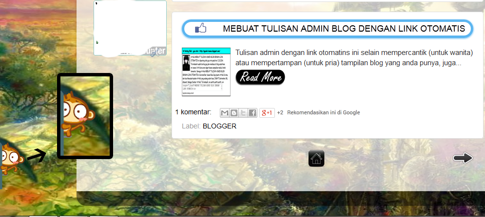memasang widget monkey hideing di blog