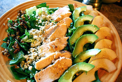 chicken avocado pear salad