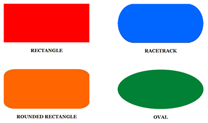 Ordinaire An Oval Also Has Length Greater Than Width, But It Has Continuous Curved  Sides. Below Are Images Of Some Common Table Shapes: