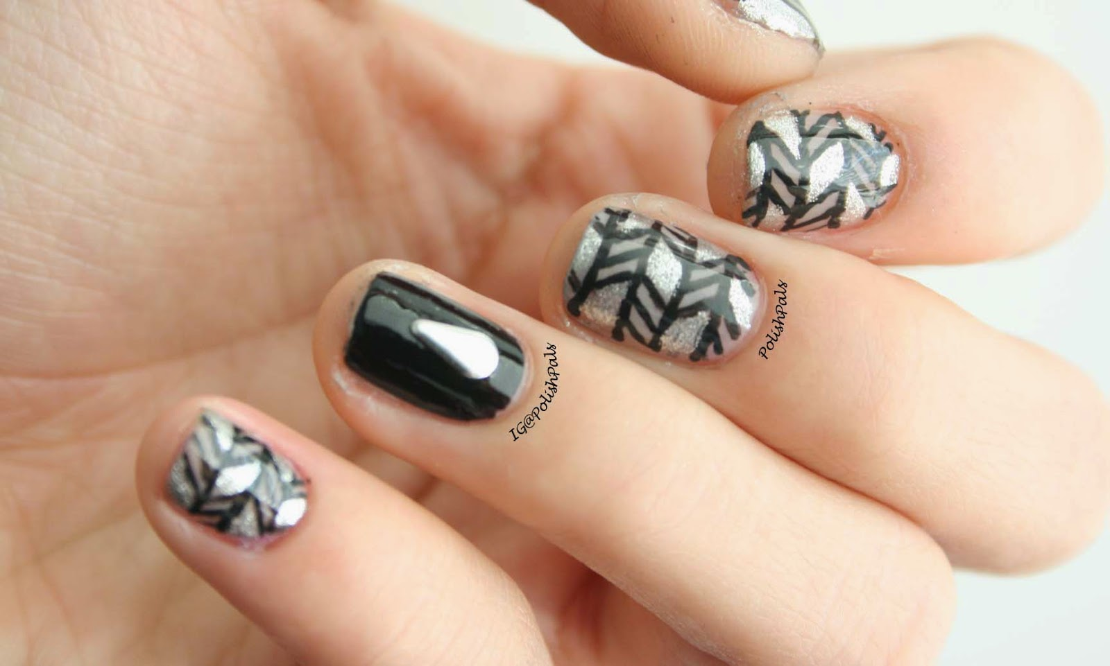 Polish Pals: Geometric Greyscale Nails (+ Tutorial)