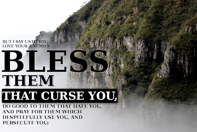 Bless them that curse you - Matthew 5:44