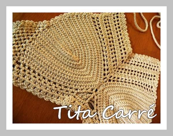 Cropped com bojo invertido em crochet
