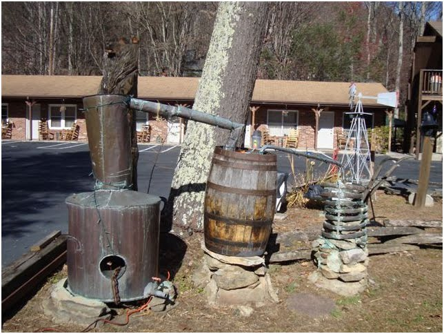 this authentic moonshine still designed built and no doubt used by ...