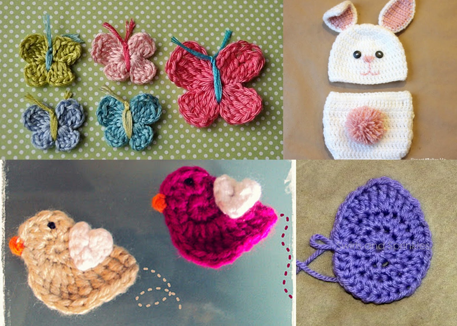 just between you and me: Easter Bunny Applique Crochet Pattern