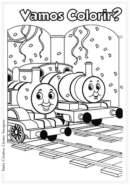 Desenho Thomas e seus amigos pra colorir