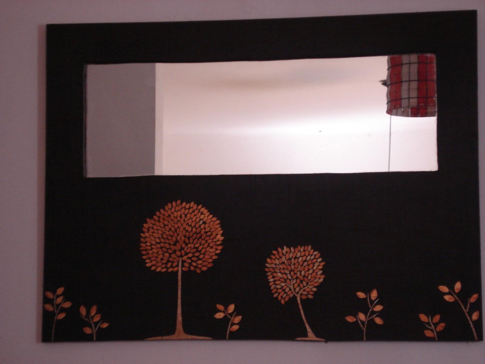 Espejos creativos y de dise o espejos con dise os en l minas doradas y plateadas - Espejos con diseno ...