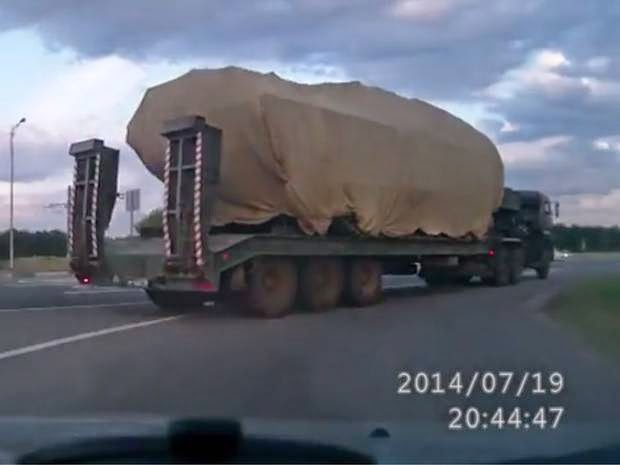 MH17 Ukraine Crash: Blogger captures footage 'showing BUK missile launcher that shot down jet' now back in Russia