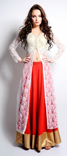 Open Shirts With Lehenga
