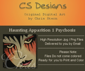 Haunting Apparition Macabre digi stamp