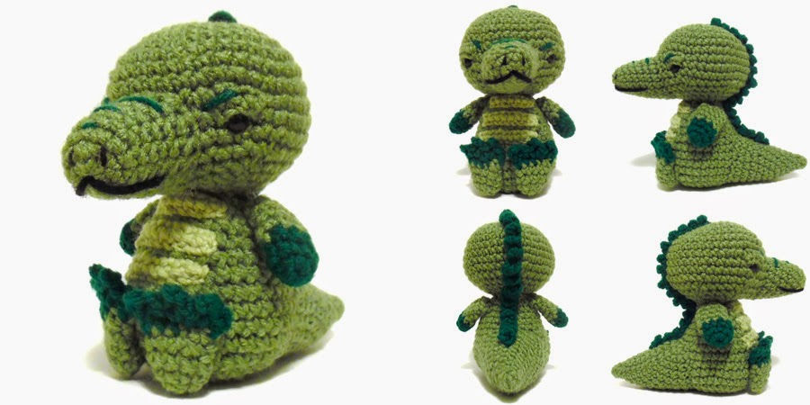 i crochet things: Free Pattern Friday: Sitting Alligator Amigurumi