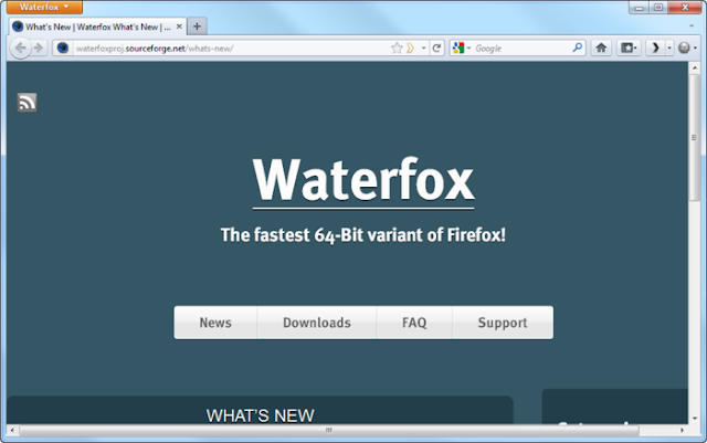 Waterfox browser - 64 bit variant of Firefox