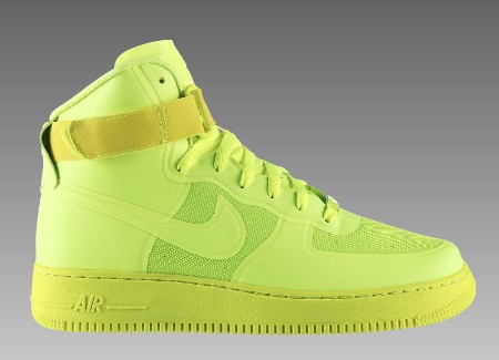 nike air force neon grün