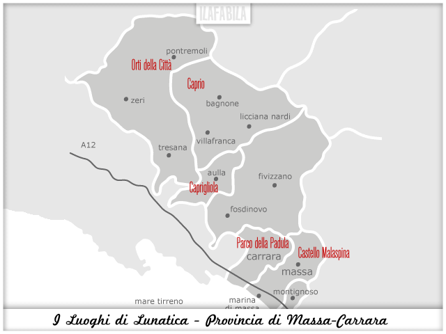 I Luoghi di Lunatica Festival - Provincia di Massa Carrara - #lunaticando