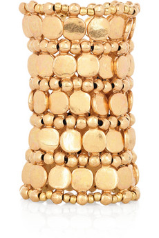Zacharie gold-plated cuff