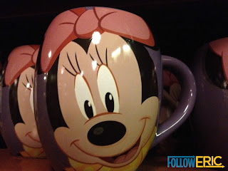 Minnie Mouse souvenir coffee mug found in Disneyland California