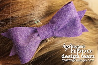 Heather Landry_Felt Bow_Hydrangea Hippo_Purple