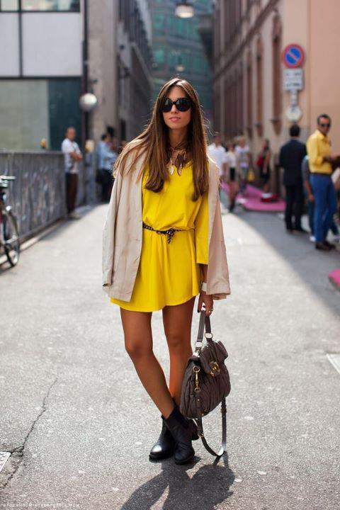 фото модных желтых платьев