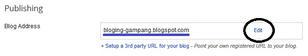 Cara Ganti Alamat URL Blog